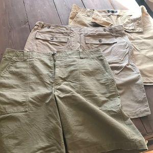 3 pairs Banana Republic Cargo shorts